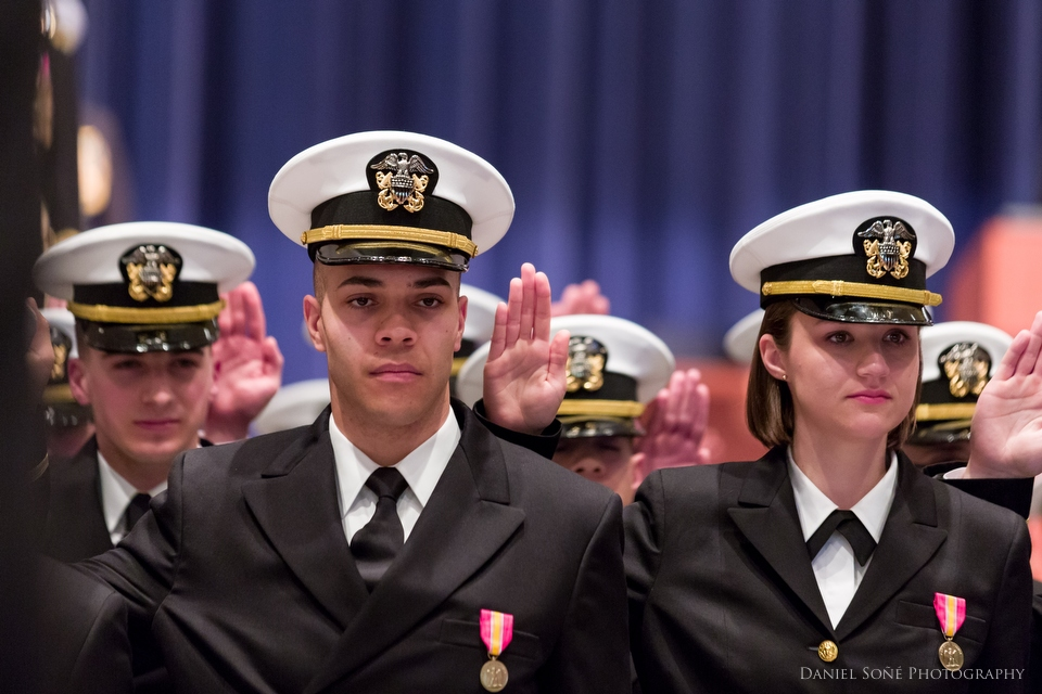 Ensign Gabriel Sone graduated from the U.S. Navy's Officer Candidate School in Newport, RI, a grueling 12-week course to train new officers for the fleet.