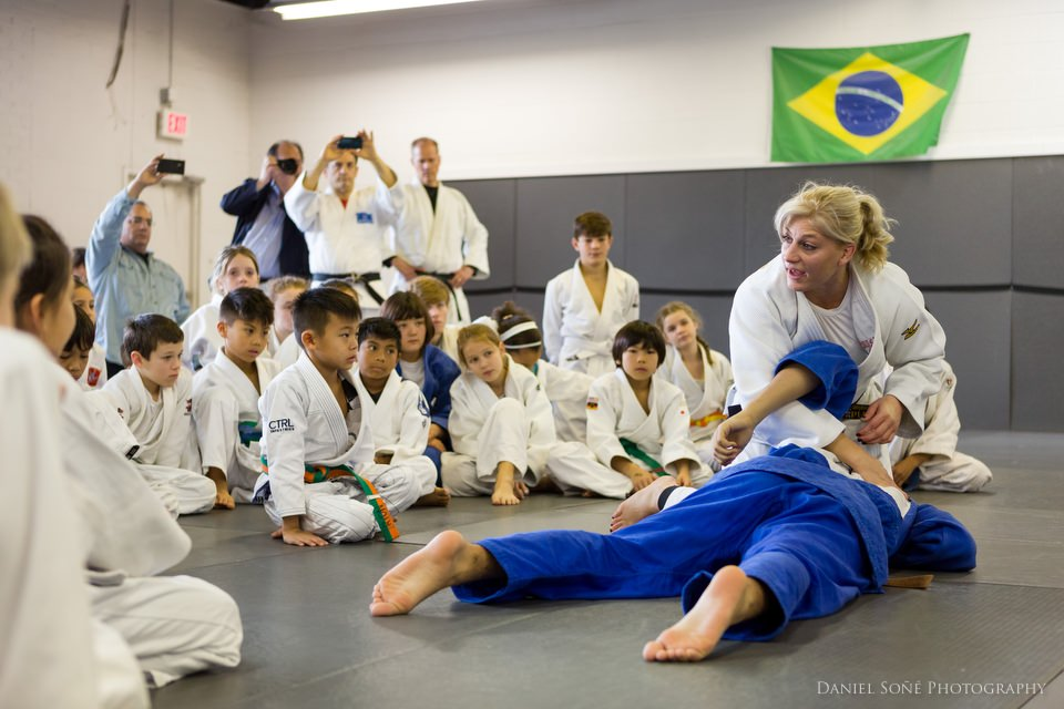 Olympic Champion Kayla Harrison Gives Judo Clinic