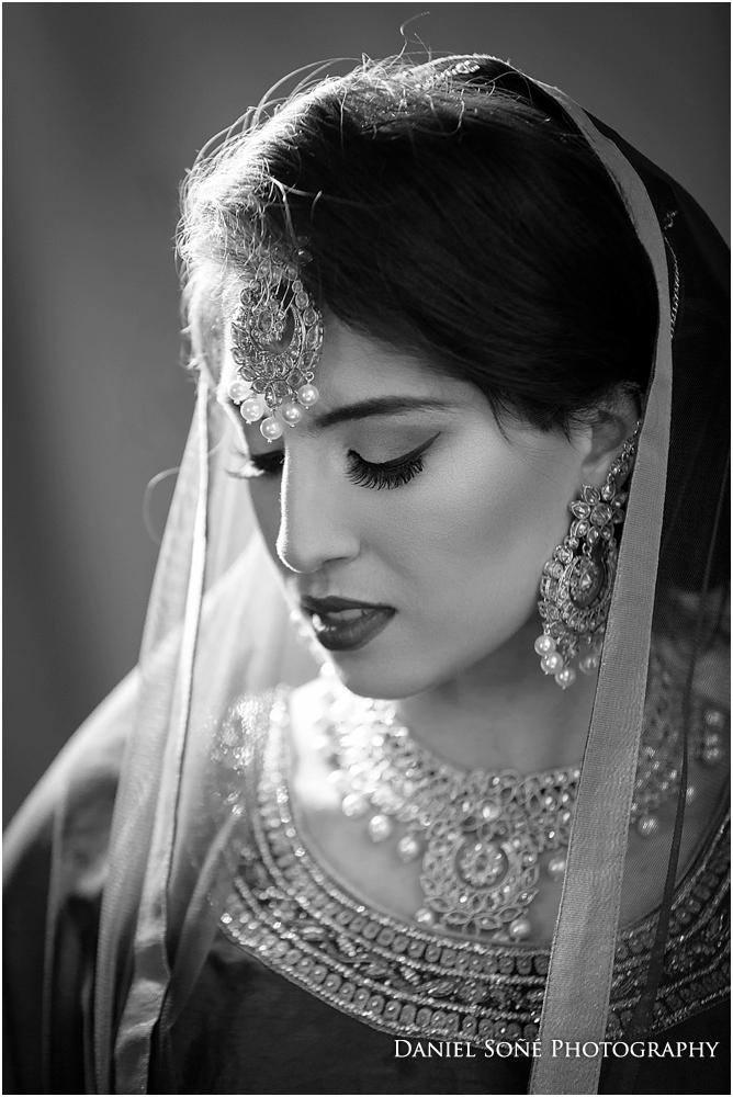 Indian wedding bride in red sari - MUA Glam by Jeet